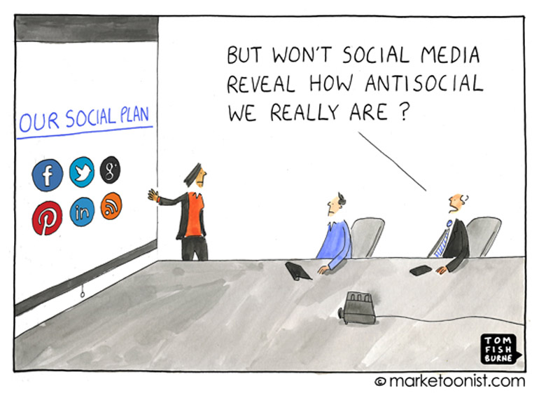 Anti-social marketing